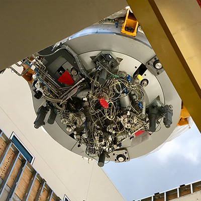 90-ton cyclotron installed at Emory Proton Therapy Center