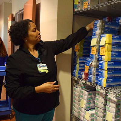 Infusion center team tackles clutter