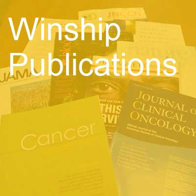Photo of Winship authored publications for April 2017