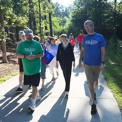 Winship physician steps out for Walk with a Doc