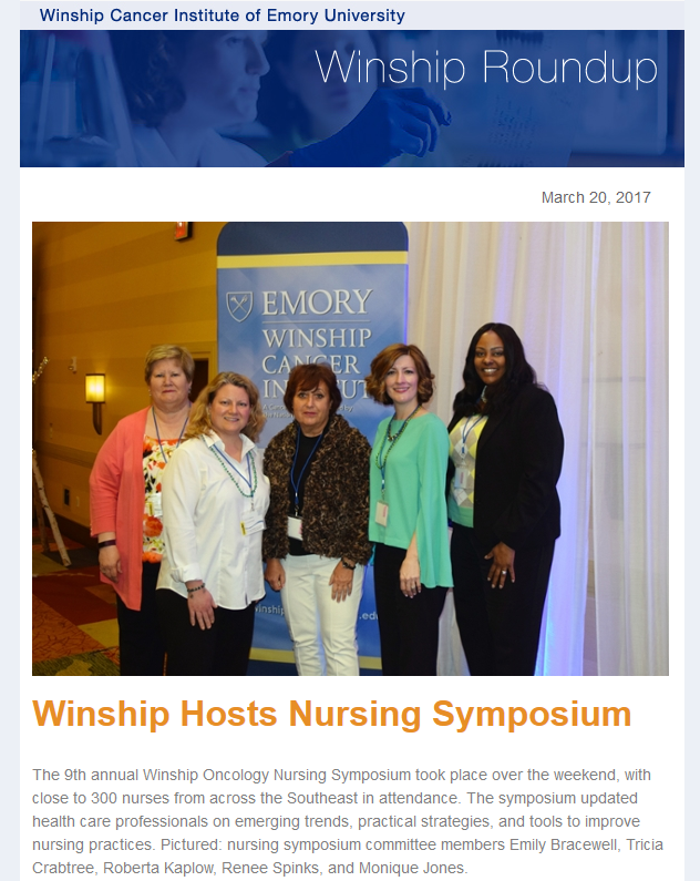 Winship Roundup | March 20, 2017