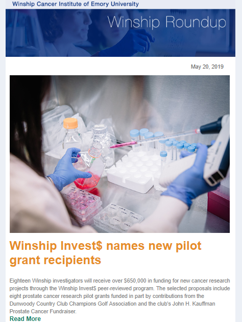 Winship Roundup | Winship Cancer Institute