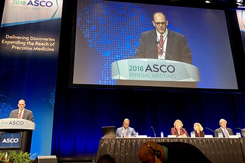 Photo of Winship's head pharmacist presents ASCO session on cancer biosimilars
