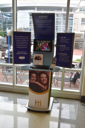 Photo of ResearchMatch Kiosk Visits Winship