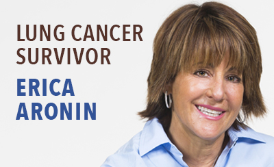 Erica Aronin, Winship lung cancer patient.